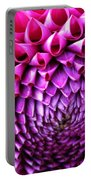 Pink To Purple Dahlia Portable Battery Charger
