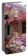 Pink Umbrella And Garlic Portable Battery Charger