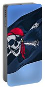 Pirate Flag Skull With Red Scarf Portable Battery Charger