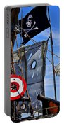 Pirate Ship With Target Portable Battery Charger by Garry Gay