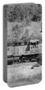 Pirates And Trains Black And White Portable Battery Charger