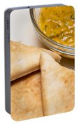 Pita Bread With Brocoli Cheese Dip Portable Battery Charger