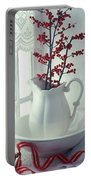 Pitcher With Red Berries  Portable Battery Charger