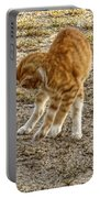 Playful Yellow Kitty Portable Battery Charger