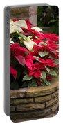 Poinsettia Garden Portable Battery Charger