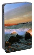 Point Judith Lighthouse Seascape Portable Battery Charger