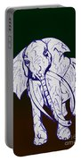 Pointillism Elephant Portable Battery Charger