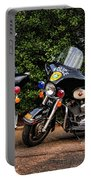 Police Motorcycles Portable Battery Charger by Paul Ward