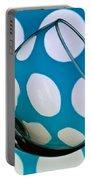 Polka Dot Glass Portable Battery Charger