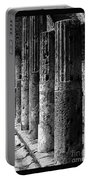 Pompeii Columns Black And White Portable Battery Charger