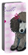 Poodle Cartoon Portable Battery Charger