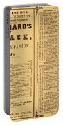 Poor Richards Penny Almanack, 1852 Portable Battery Charger