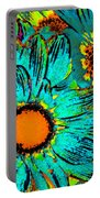 Pop Art Daisies 1 Portable Battery Charger
