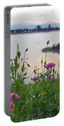 Poppies By The River Portable Battery Charger