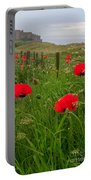 Poppies By The Roadside In Northumberland Portable Battery Charger