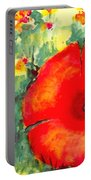 Poppies Face To The Sun Portable Battery Charger