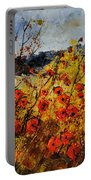 Poppies In Provence 456321 Portable Battery Charger