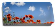 Poppy Flowers 05 Portable Battery Charger