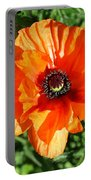 Poppy Blossom Portable Battery Charger