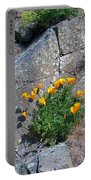 Poppy On The Rocks Portable Battery Charger
