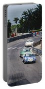 Porsches At Monte Carlo Casino Square Portable Battery Charger by John Bowers