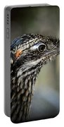 Portrait Of A Roadrunner  Portable Battery Charger