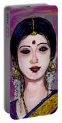 Portrait Of An Indian Woman Portable Battery Charger