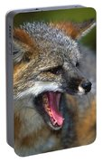 Portrait Of Gray Fox Barking Portable Battery Charger
