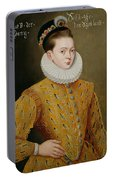 Portrait Of James I Of England And James Vi Of Scotland  Portable Battery Charger