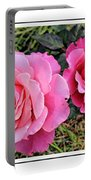 Portrait Of Sister Roses Portable Battery Charger