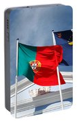 Portugal And Azores Flags Portable Battery Charger