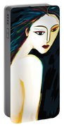 Posing Nude 1 Portable Battery Charger