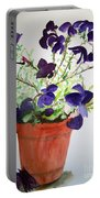 Pot Of Flowers One Portable Battery Charger