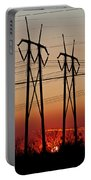 Power Towers At Sundown Portable Battery Charger