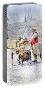 Prague Charles Bridge Organ Grinder-seller Happiness  Portable Battery Charger