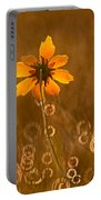 Prairie Coreopsis And Dewdrops Portable Battery Charger