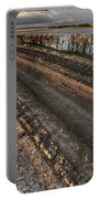 Prairie Road Storm Clouds Mud Tracks Portable Battery Charger