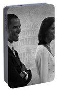 President Obama And First Lady Bw Portable Battery Charger