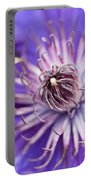 Pretty Purple Clematis Portable Battery Charger