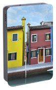 Primary Colors In Burano Italy Portable Battery Charger