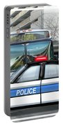 Proud Police Car In The City  Portable Battery Charger