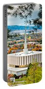 Provo Temple Pine Frame Portable Battery Charger