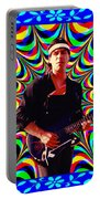 Psychedelia Within A Blue Framework Portable Battery Charger