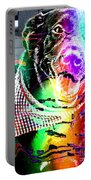 Psychedelic Black Lab With Kerchief Portable Battery Charger