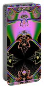 Psychedelic Blackhole Birthday Party Fractal 120 Portable Battery Charger