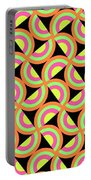 Psychedelic Squares Portable Battery Charger by Louisa Knight
