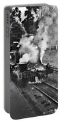 Puffing Billy Black And White Portable Battery Charger