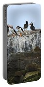 Puffins On A Cliff Edge Portable Battery Charger