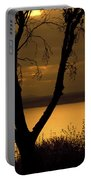 Pugent Sound Silhouetted Tree Portable Battery Charger