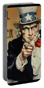 Pull My Finger Poster Portable Battery Charger
